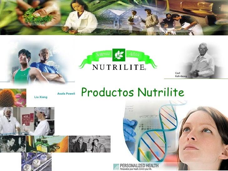 Productos Nutrilite Asafa   Powell   Liu   Xiang