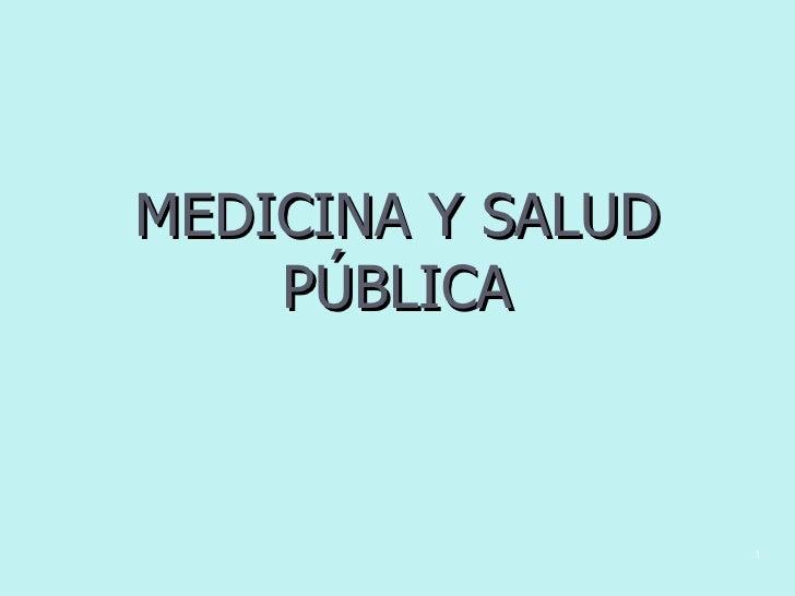 Salud pública y enfermedad