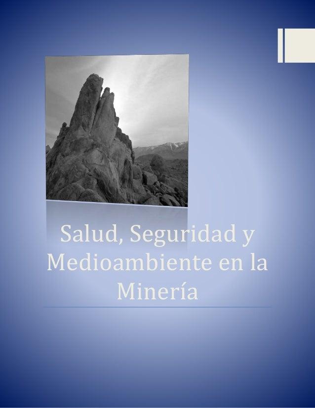 Salud, Seguridad y Medioambiente en la Minería