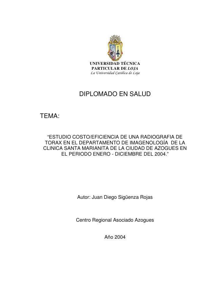 UNIVERSIDAD TÉCNICA                  PARTICULAR DE LOJA                 La Universidad Católica de Loja                 DI...