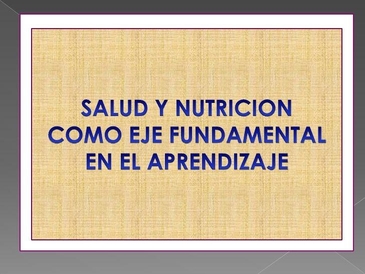 INTRODUCCIÓNEl acceso a la salud es   Siendo la nutrición un derecho exclusivo     el proceso a  del ser humano y su     t...