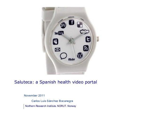 Saluteca: a spanish video health portal