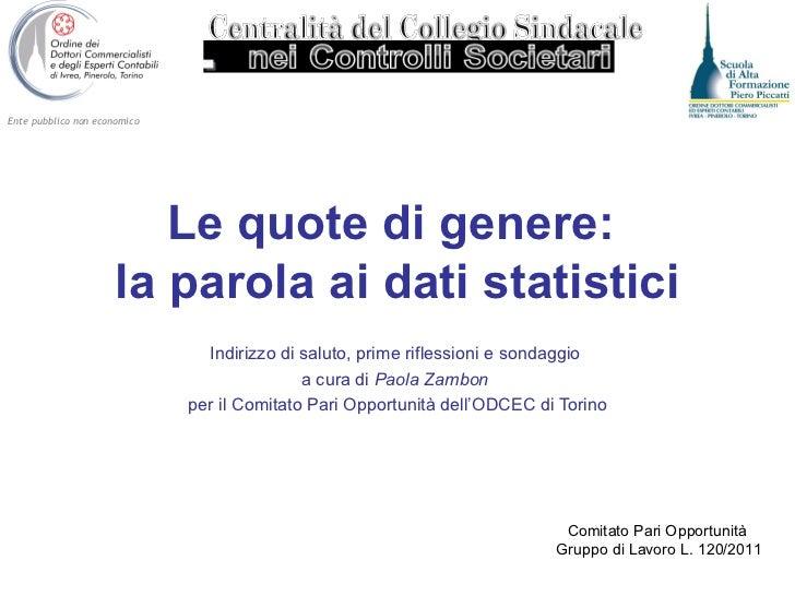 Statistica sulle quote rosa in Piemonte
