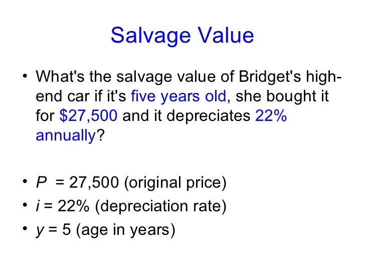 Calculate Car S Residual Value