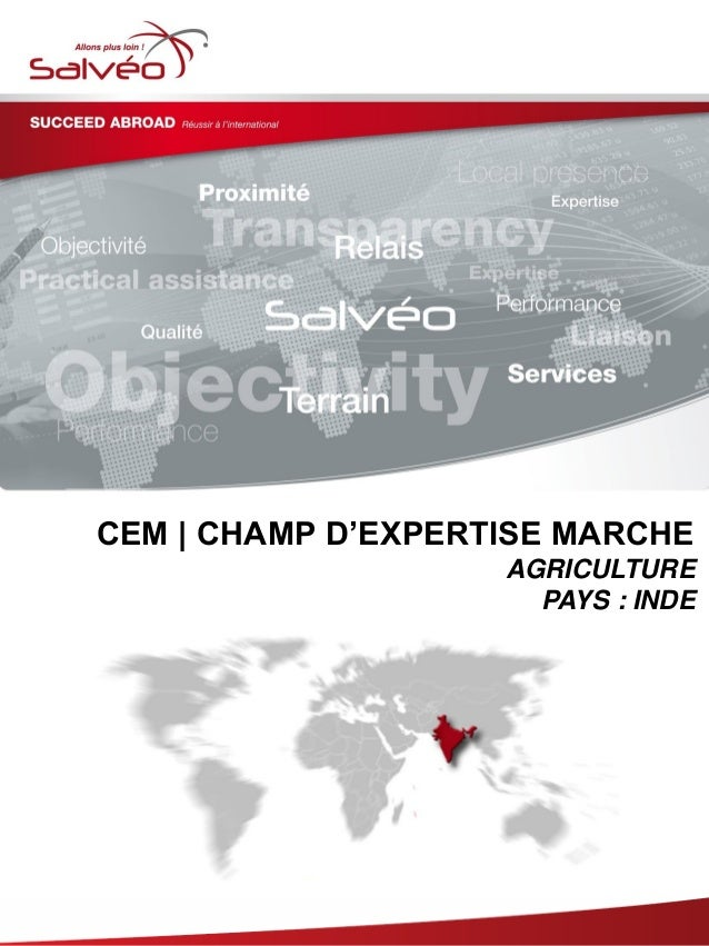 CEM | CHAMP D'EXPERTISE MARCHE AGRICULTURE PAYS : INDE