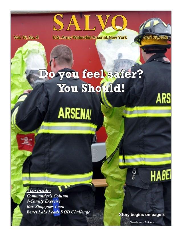 Watervliet Arsenal Newsletter : Salvo 30 April 2013