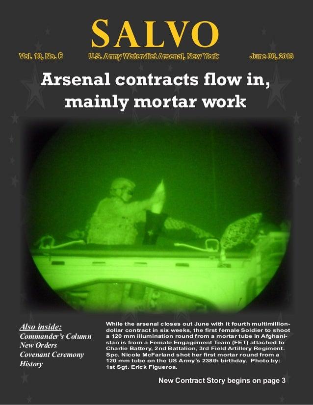 Watervliet Arsenal Newsletter:  Salvo 30 June 2013