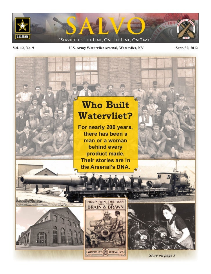 Watervliet Arsenal's Newsletter: Salvo 30 September 2012