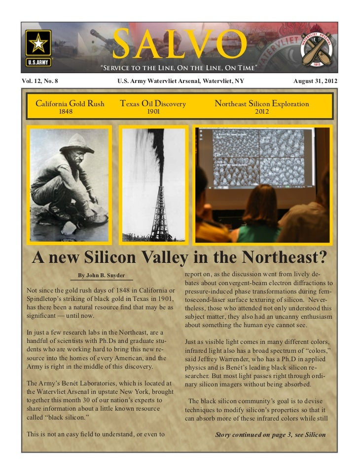 """S ALVO                            """"Service to the Line, On the Line, On Time""""Vol. 12, No. 8                   U.S. Army W..."""