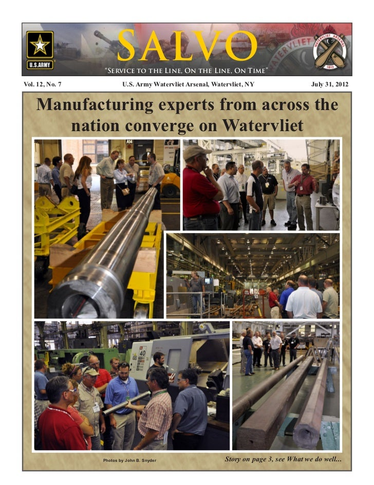 Watervliet Arsenal's Newsletter: Salvo 31 July 2012