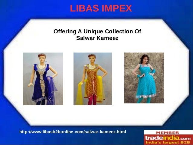 Salwar Kameez Suits Manufacturer, Exporter, LIBAS IMPEX