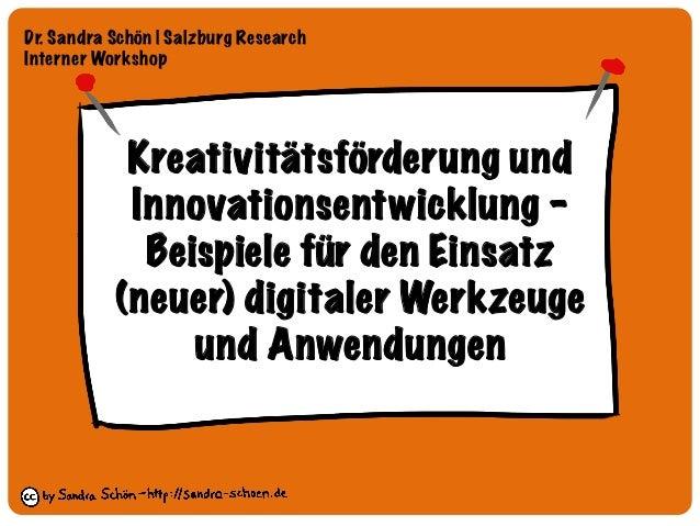 Kreativitätsförderung und Innovationsentwicklung –