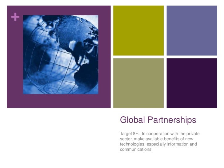 Global Partnerships<br />Target 8F:  In cooperation with the private sector, make available benefits of new technologies, ...