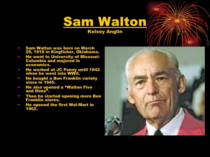 sam walton Sam walton has 12,326 ratings and 502 reviews alyssa said: before opening, i thought the book was too long in the first few chapters i was intruiged, a.