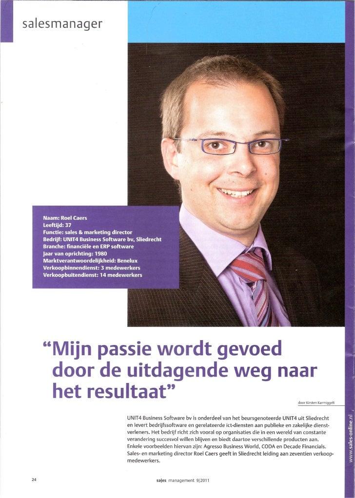 Sales Management september 2011