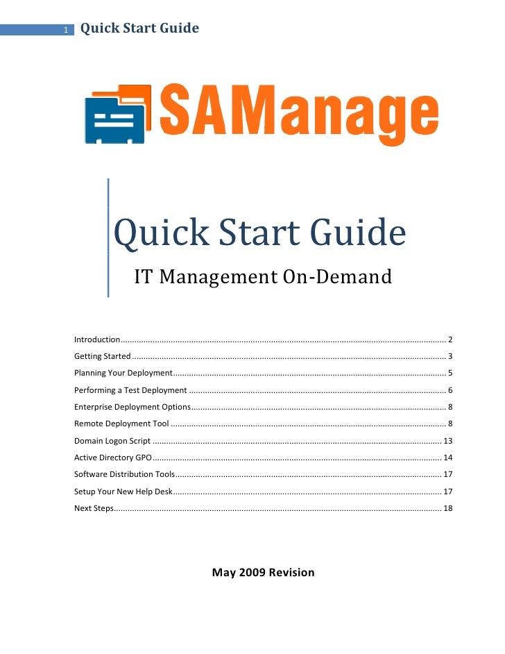 1     Quick Start Guide                         Quick Start Guide                              IT Management On-Demand    ...