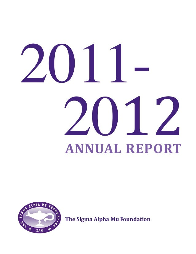 Sigma Alpha Mu Foundation annual report