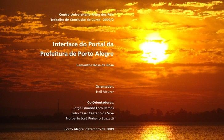 1 de 50                Centro Universitário Ritter dos Reis           Trabalho de Conclusão de Curso - 2009/2             ...