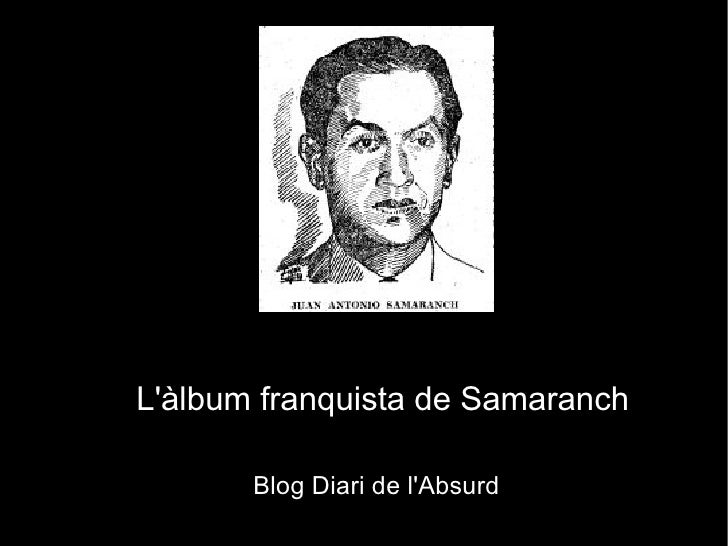 L'àlbum franquista de Samaranch
