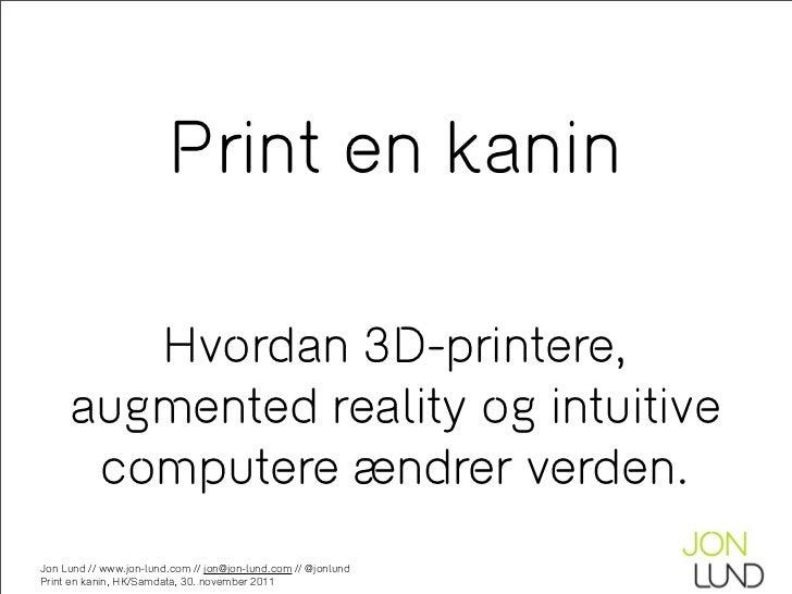 Print en kanin