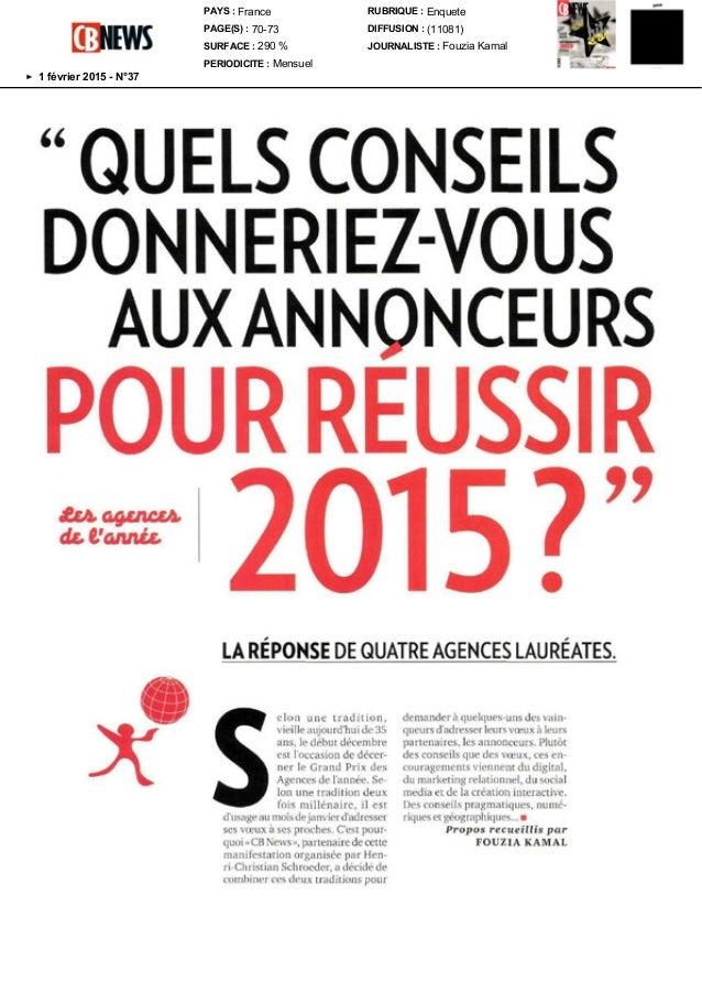(1/4) Tous droits de reproduction réservés PAYS : France PAGE(S) : 70-73 SURFACE : 290 % PERIODICITE : Mensuel RUBRIQUE : ...