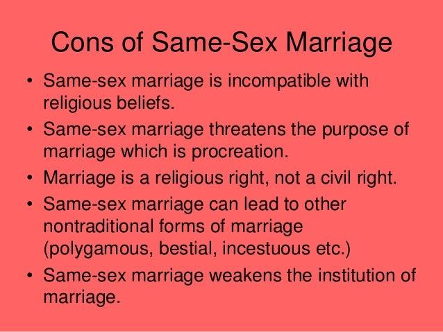 Legal arguments against same sex marriage