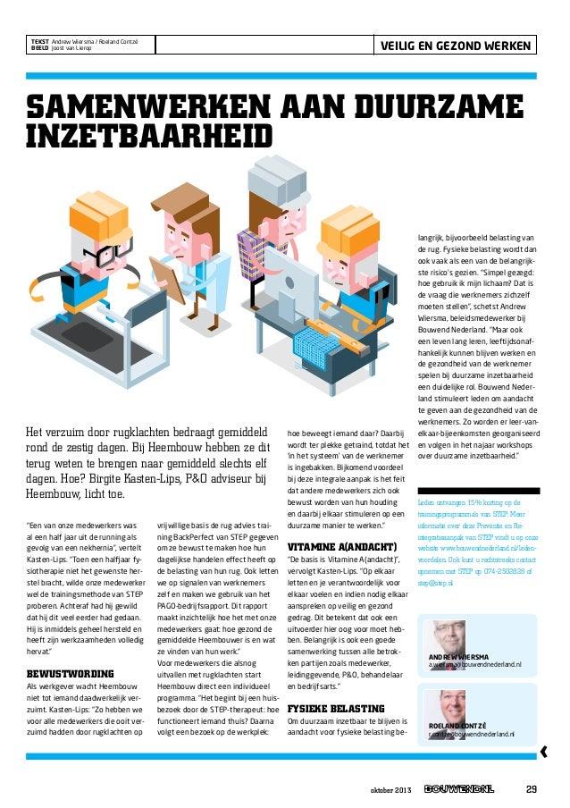 Samenwerken aan duurzame inzetbaarheid   interview birgite kasten-lips heembouw - bouwend nl oktober 2013