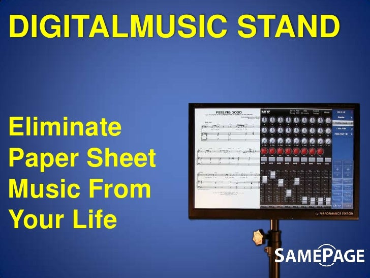 DIGITALMUSIC STAND<br />Eliminate Paper Sheet Music From Your Life<br />
