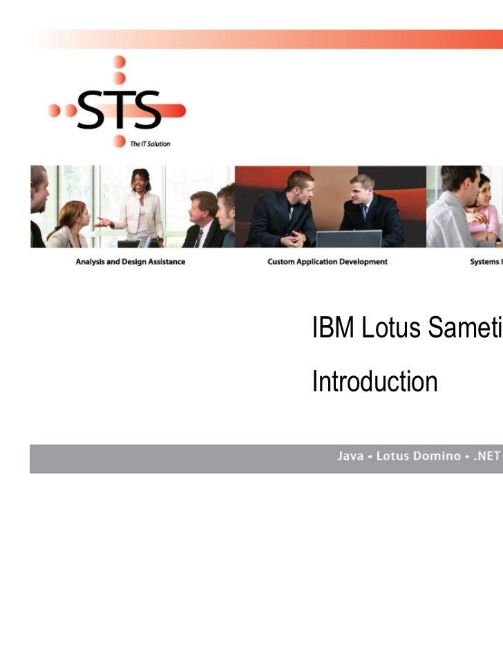 Sametime Introduction