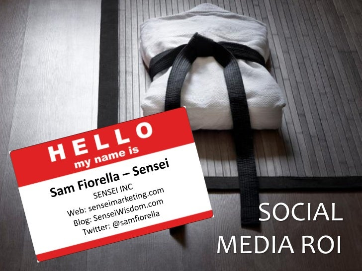 Social Media ROI at AIMSCda  by @samfiorella