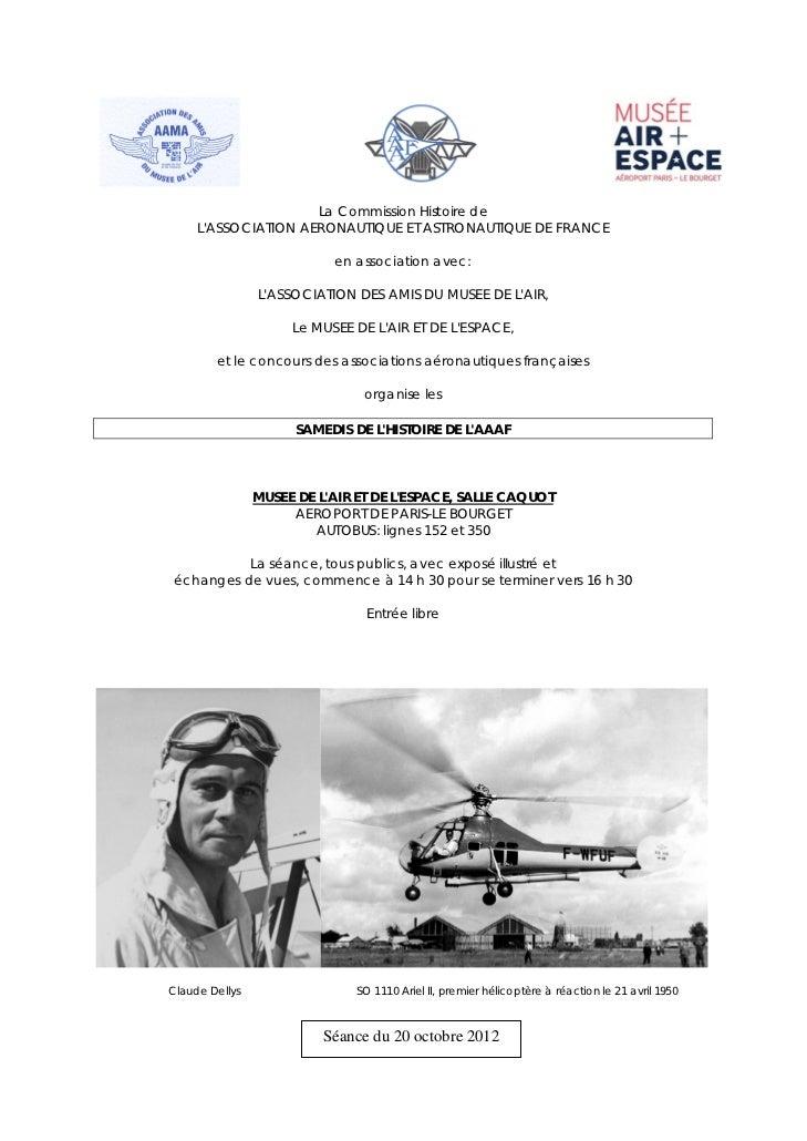 La Commission Histoire de     LASSOCIATION AERONAUTIQUE ET ASTRONAUTIQUE DE FRANCE                              en associa...