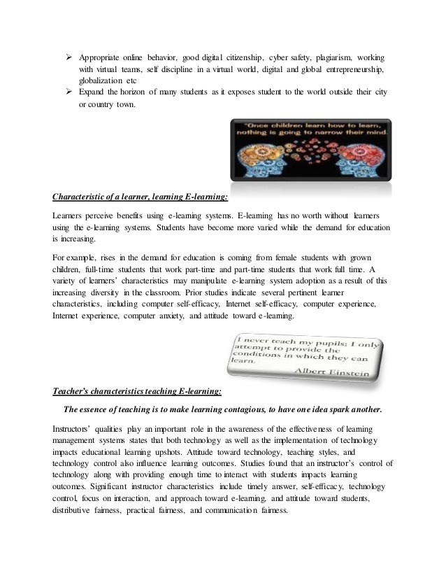 essay about online learning Online courses are becoming so popular today that they are almost expected in any formal education curriculum classrooms are often supplemented by an online portion, while some universities promote exclusively their distance learning programs as online learning has become more mainstream, we have.