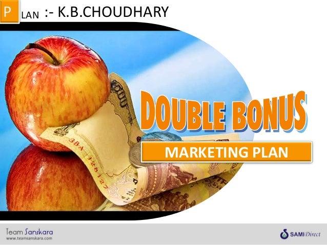 MARKETING PLAN LANP :- K.B.CHOUDHARY