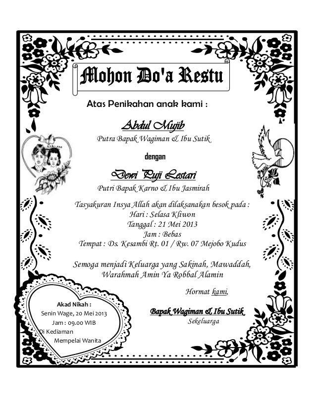 format undangan syukuran pernikahan word