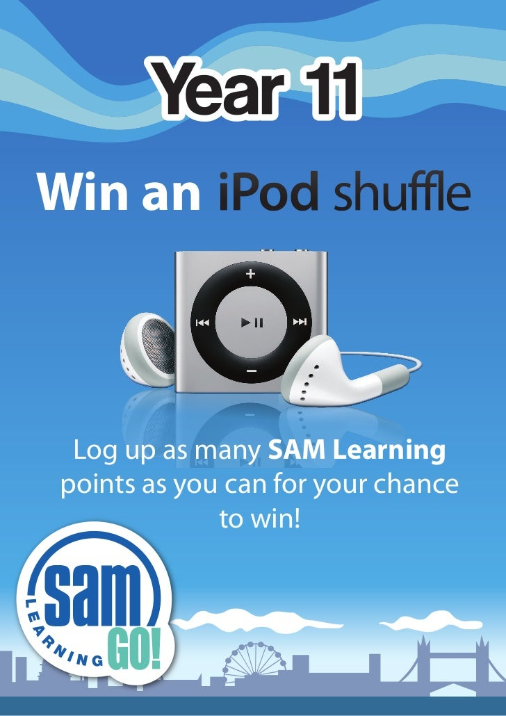 Win an Log up as many SAM Learningpoints as you can for your chance             to win!