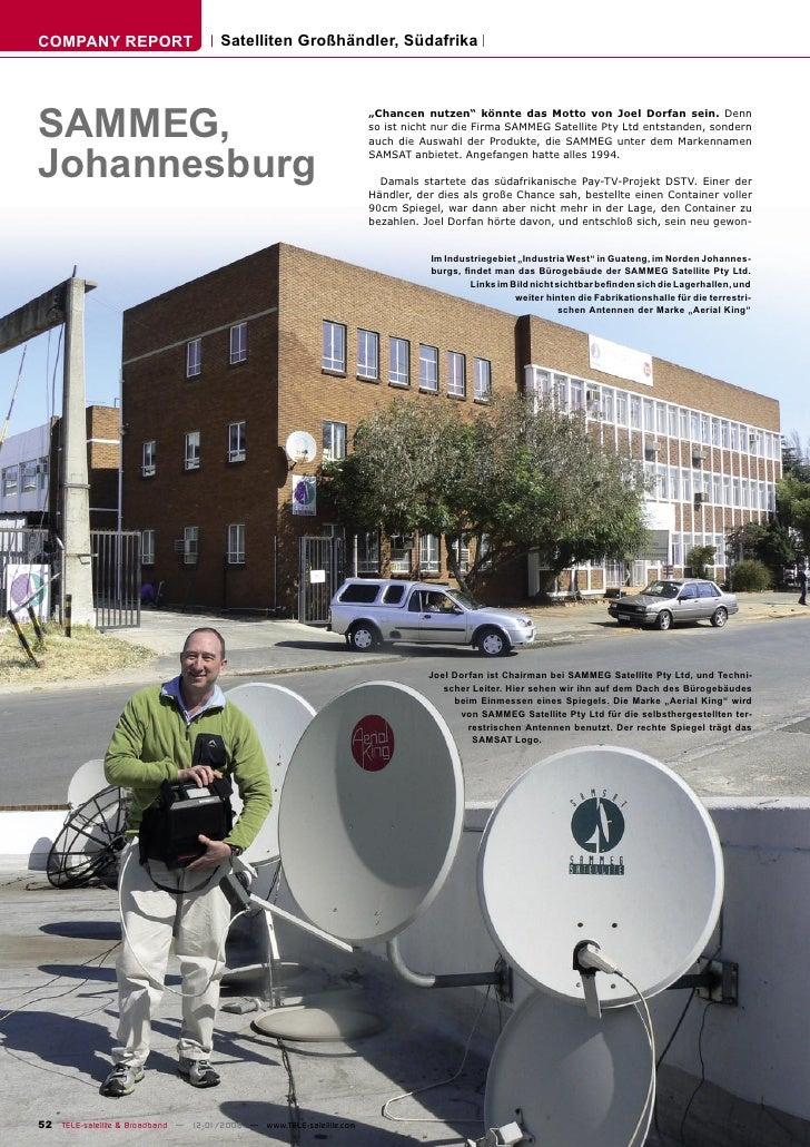 COMPANY REPORT                        Satelliten Großhändler, Südafrika     SAMMEG,                                       ...