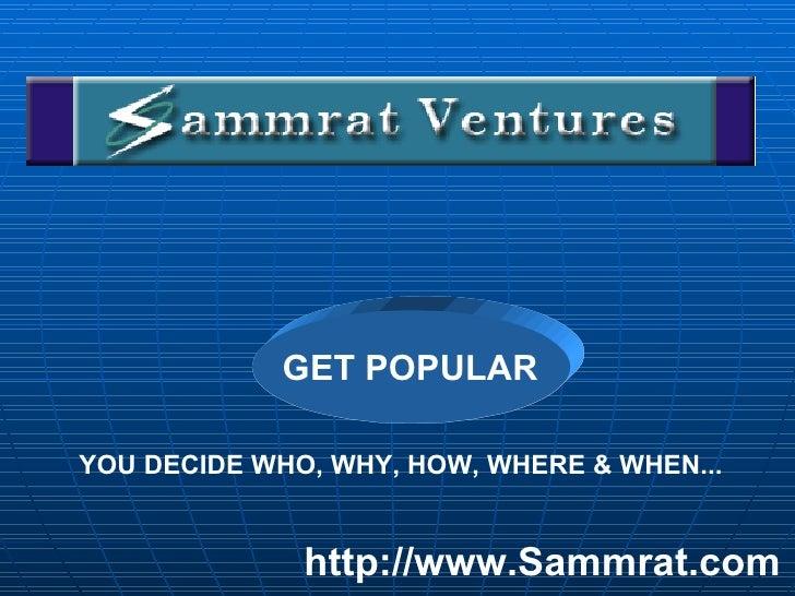 Sammrat Bulk Sms Presentation