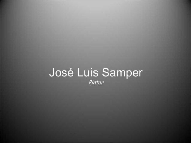 José Luis Samper Pintor