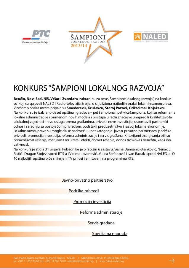 NALED i RTS - Šampioni lokalnog razvoja