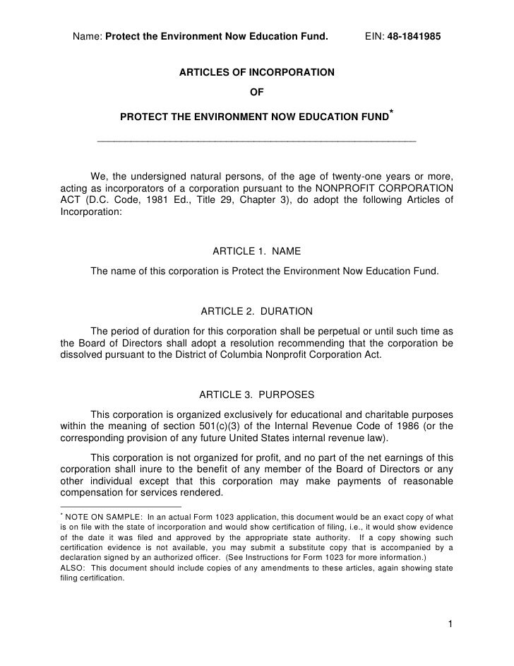 Name: Protect the Environment Now Education Fund.                                 EIN: 48-1841985                         ...