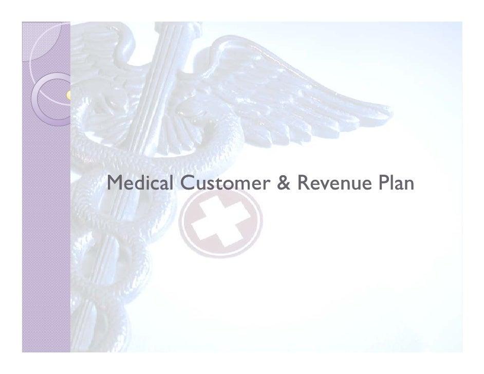 Medical Customer & Revenue Plan