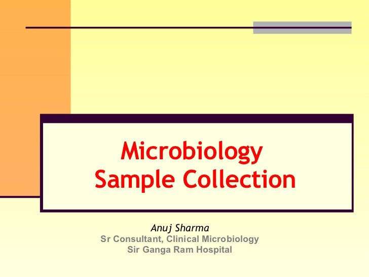 Sample Collection In Microbiology