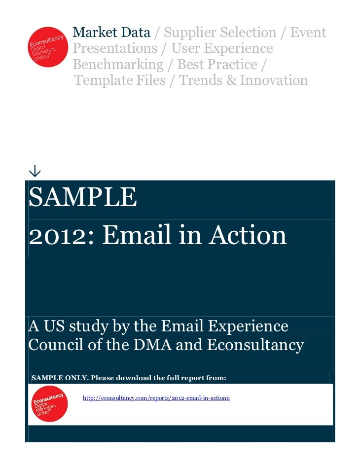 Email marketing 2012 Sample email-in-action