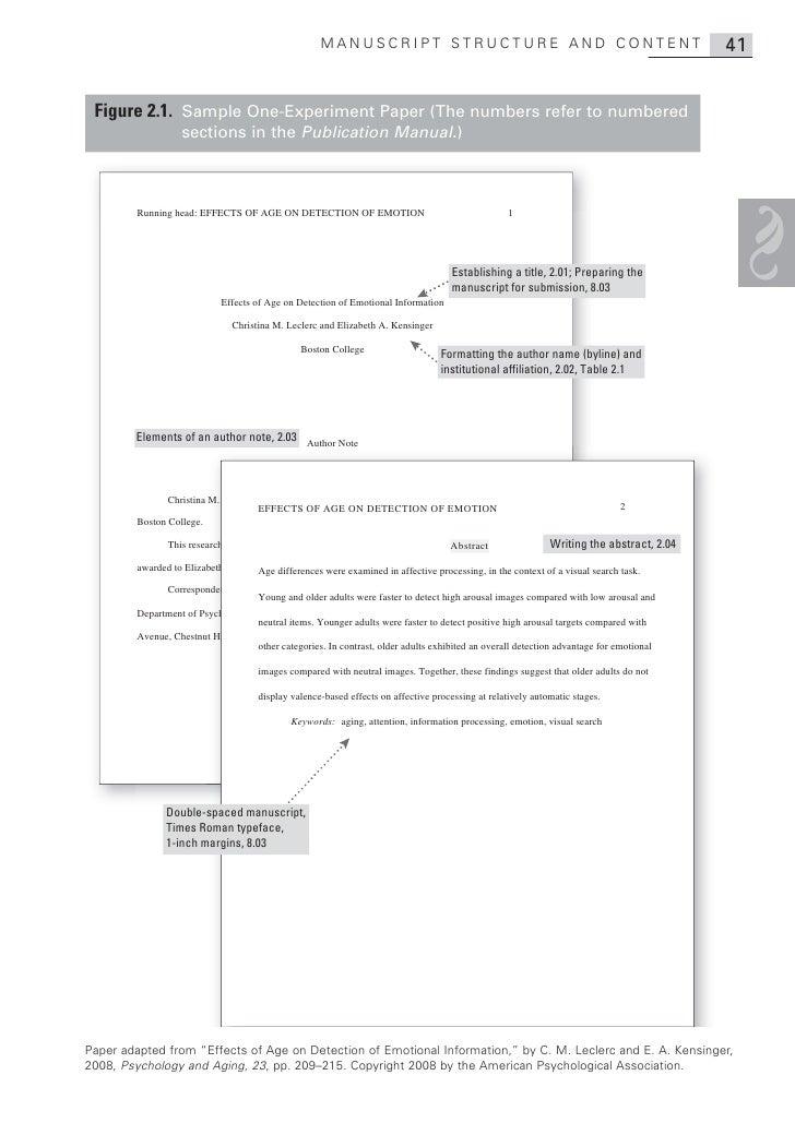 MANUSCRIPT STRUCTURE AND CONTENT                                                      41 Figure 2.1. Sample One-Experiment...