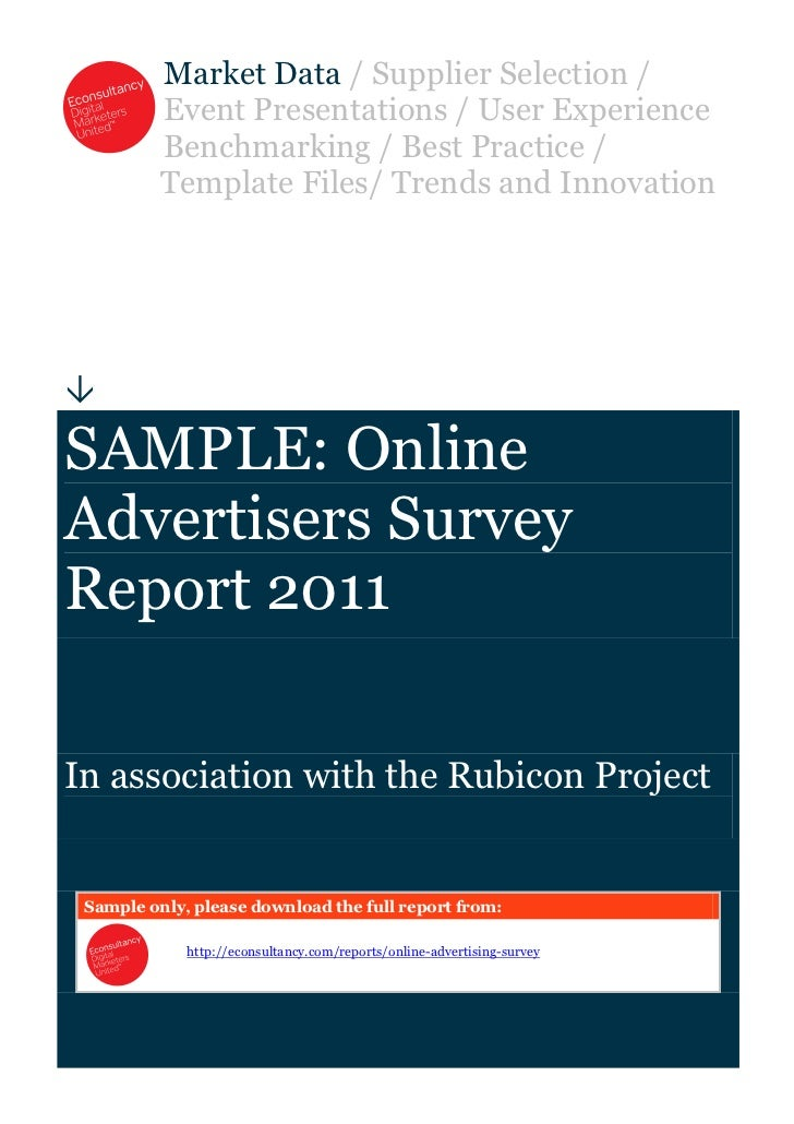 Sample online-advertisers-survey-report-2011