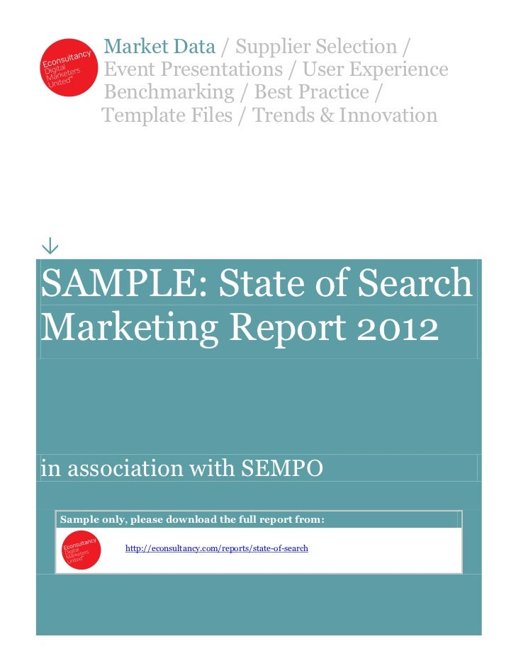 Sample SEMPO State of Search Marketing Report 2012