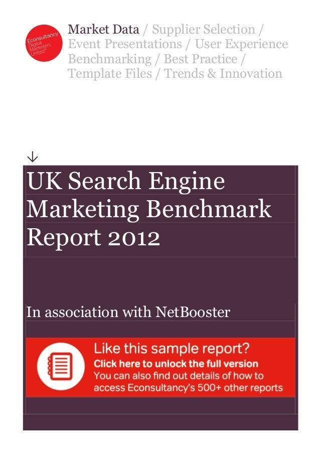Sample uk-search-engine-marketing-benchmark-report