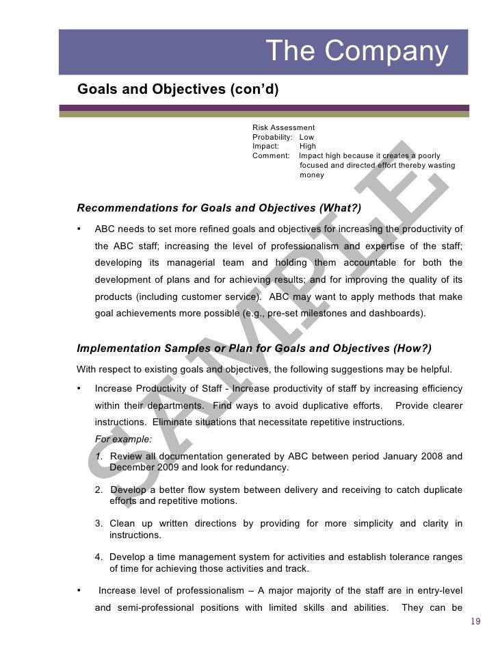 sample risk assessment report