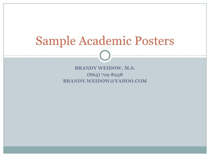 Standard academic poster size