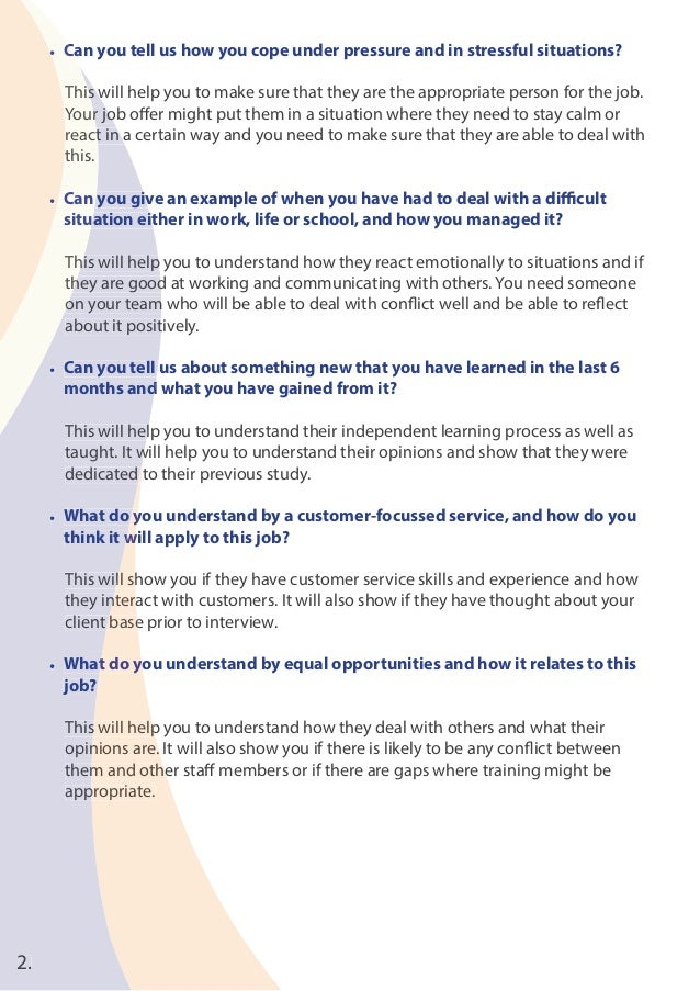 difficult situation examples for interviews